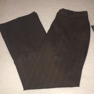 🆕NWT WORTHINGTON BROWN STRIPED CURVY FIT TROUSERS